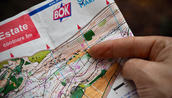 Map and finger